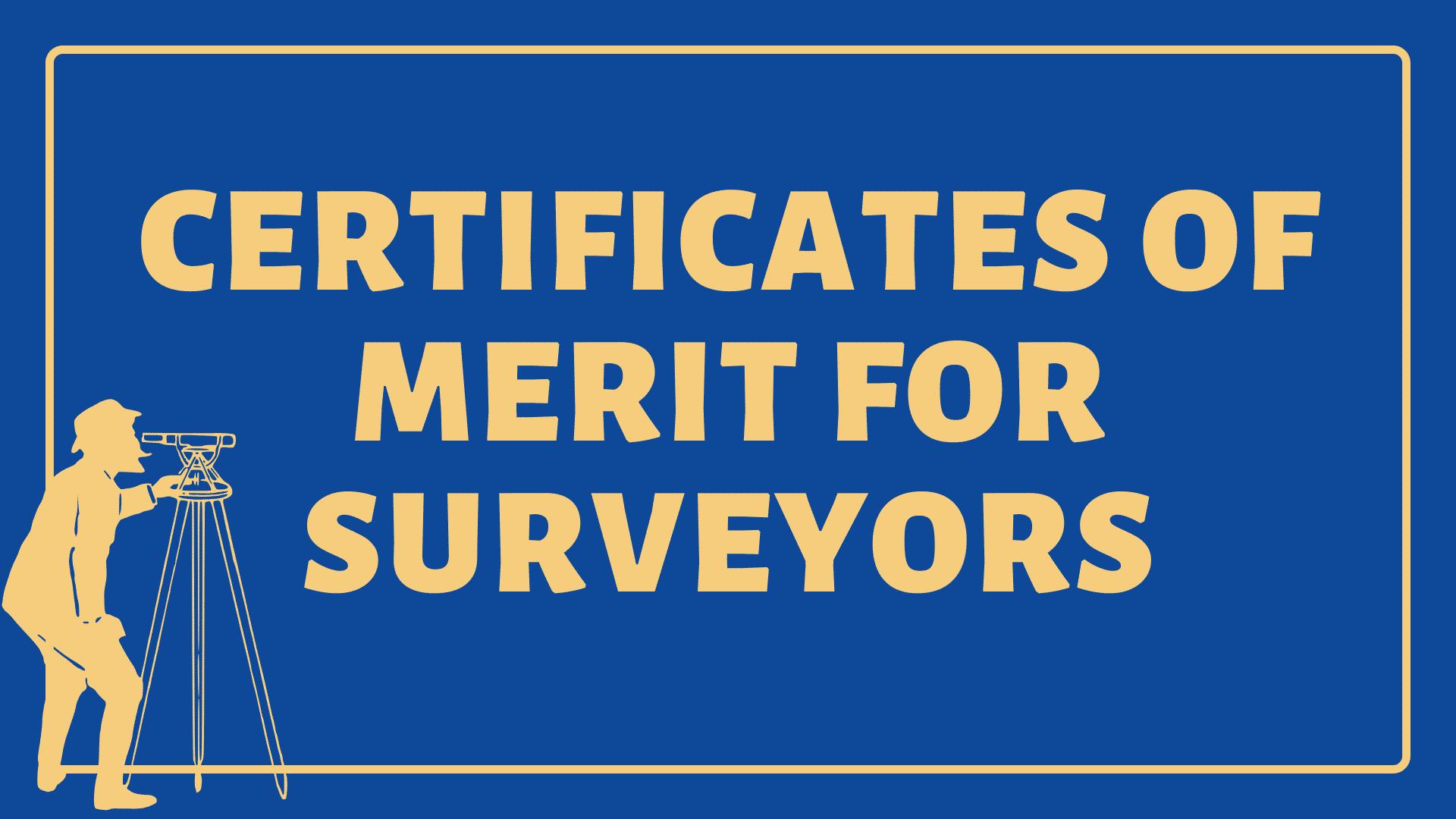 Certificates of Merit